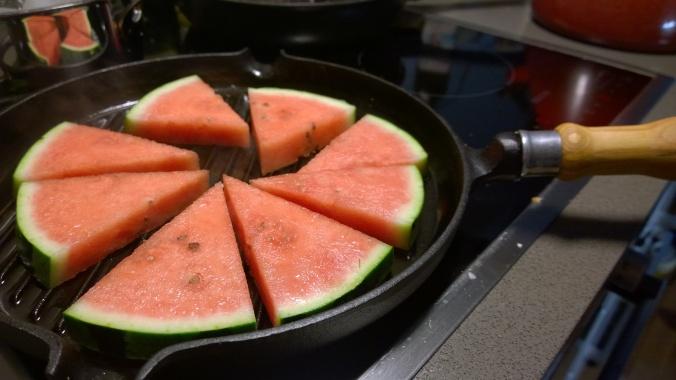 grillattu vesimeloni