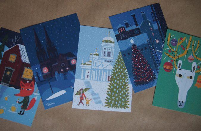 tämän vuoden joulukortit