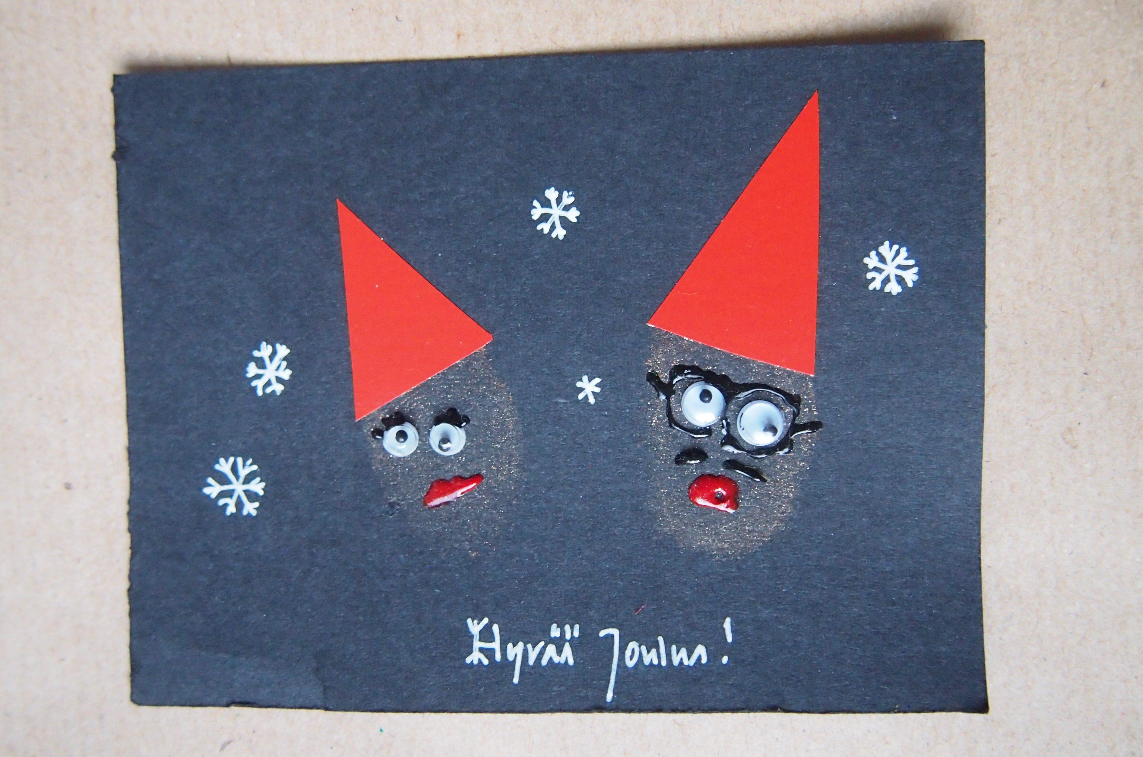 omakuva joulukortissa