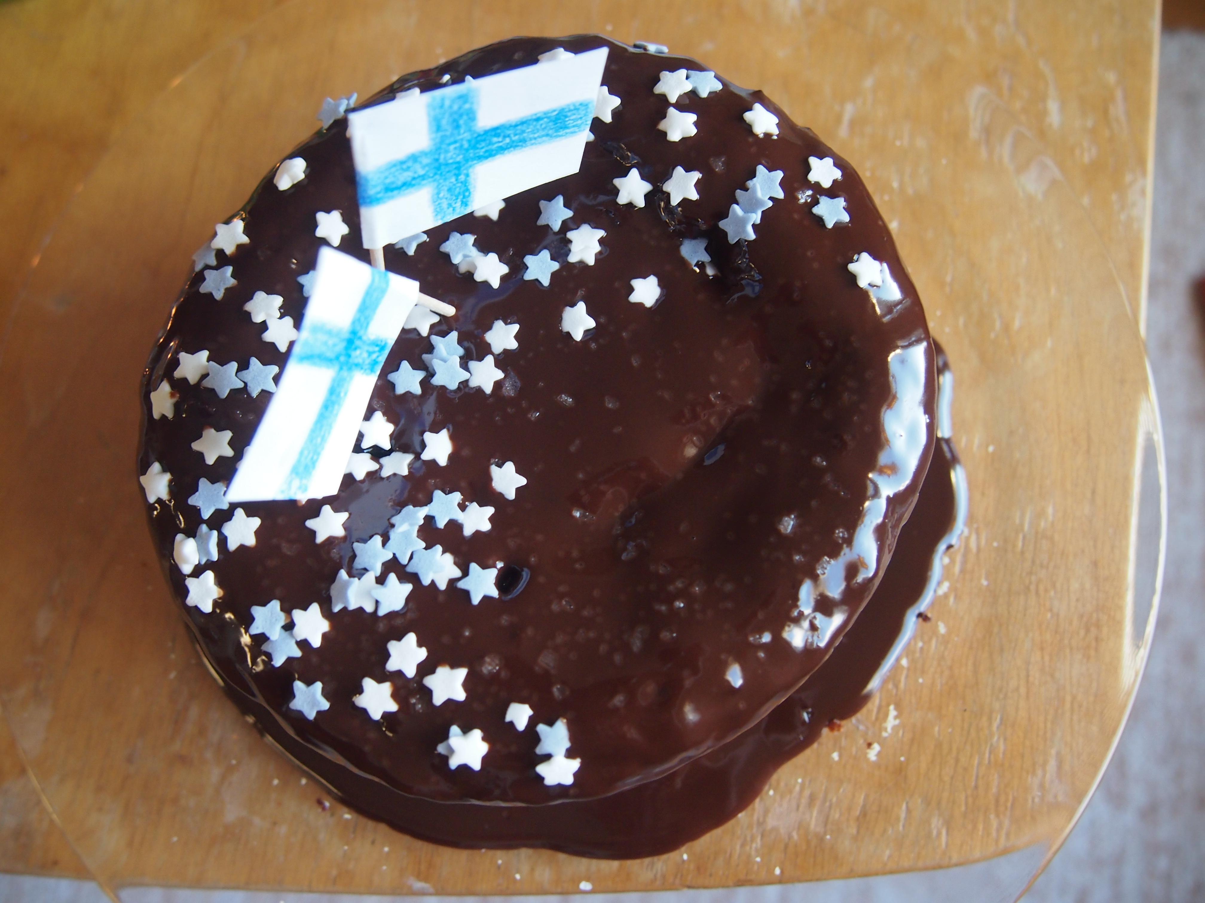 kakku ylhäältä päin